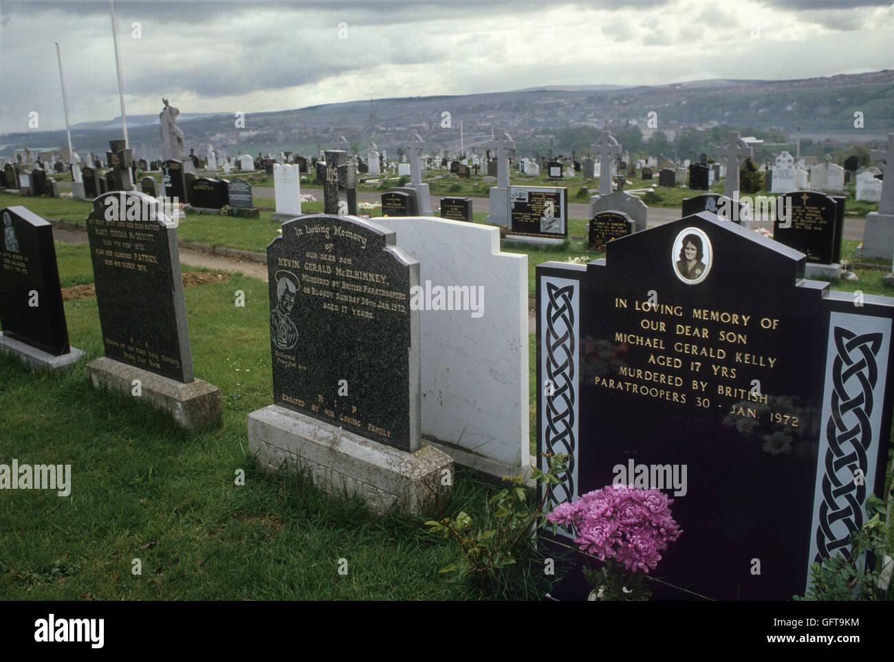 Hugh Pius Gilmour, Patrick Joseph Doherty, William Noel Nash. Murdered by British Paratroopers Bloody Sunday 1972. - Stock Image