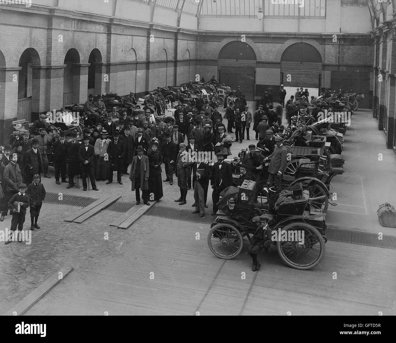 1900 1000 mile trial. Cars on exhibition at Cheltenham Stock Photo ...