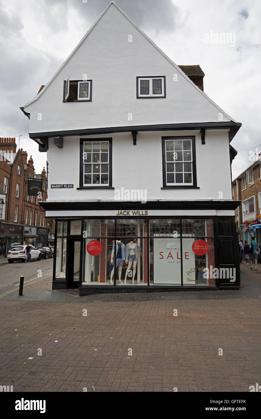 Jack Wills store In St Albans - Stock Image