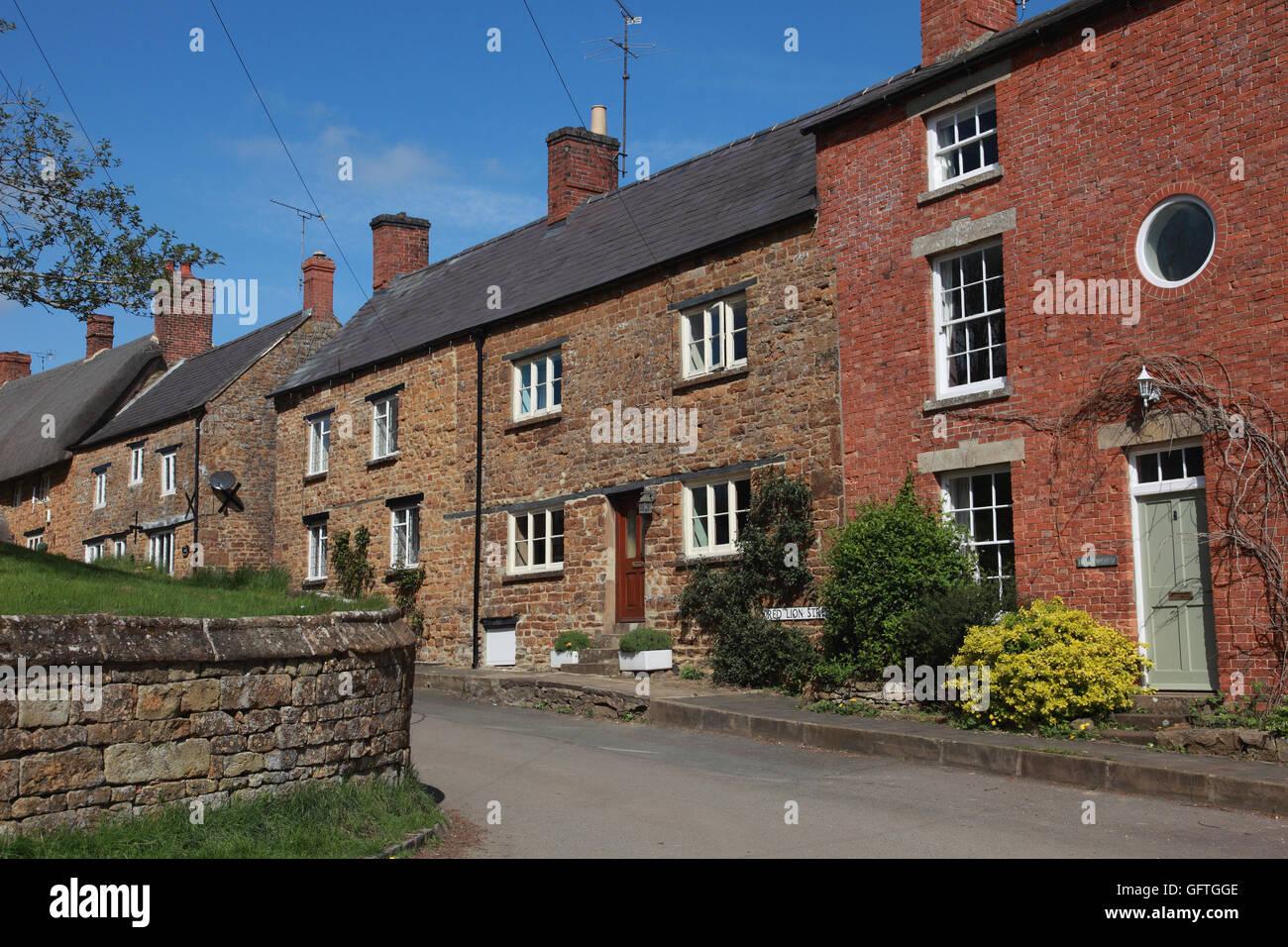 Red Lion street Cropredy, Oxfordshire - Stock Image