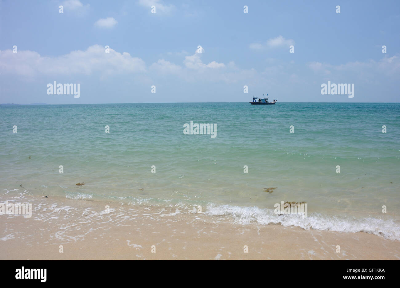Looking Out to the South China Sea from Johor in Malaysia - Stock Image