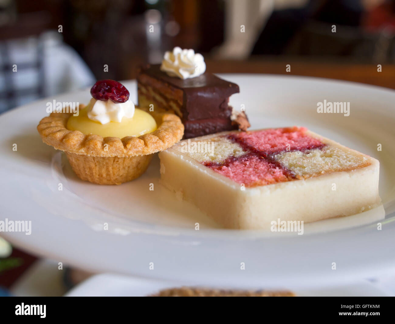 Sweet pastries for Afternoon Tea - Stock Image
