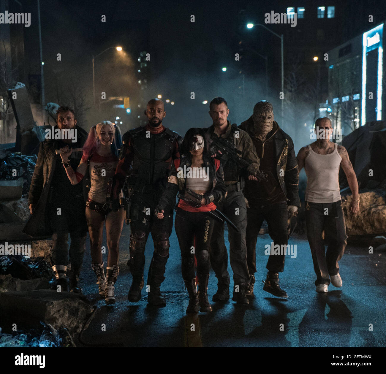 Suicide Squad is an upcoming American superhero film based on the DC Comics antihero team of the same name. It is - Stock Image