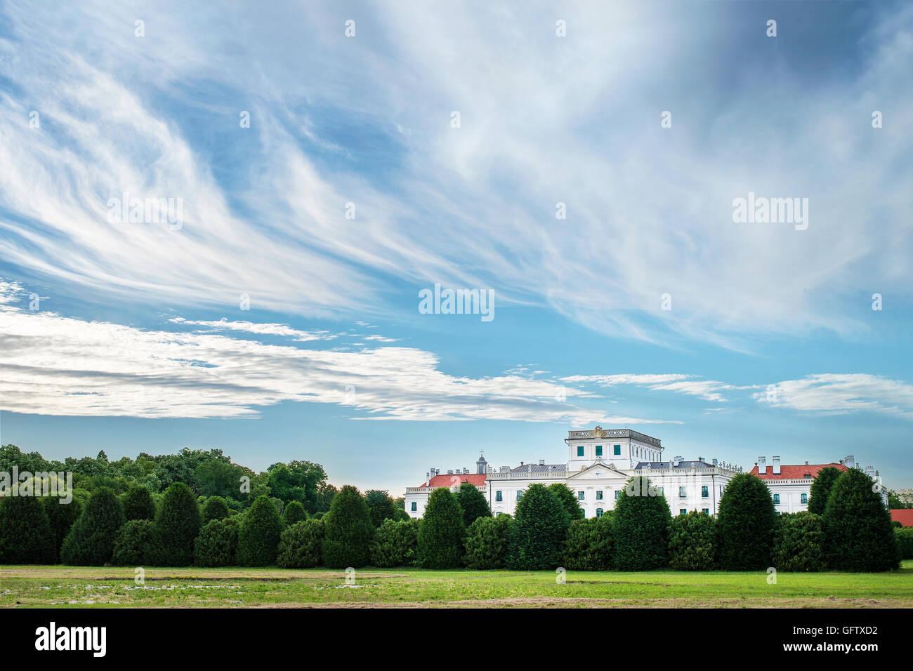 Esterhazy castle backyard park in Fertod, Hungary - Stock Image