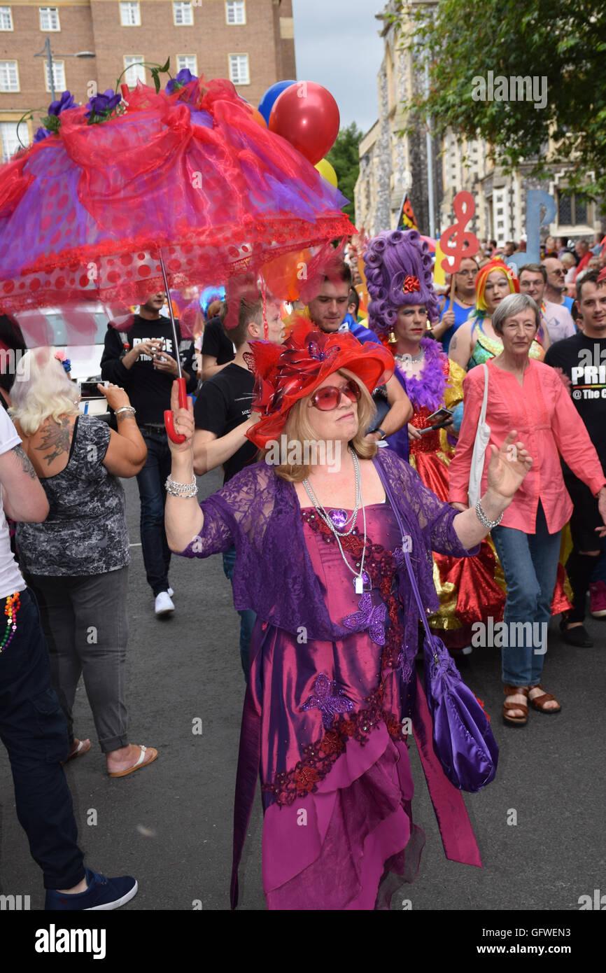 Norwich Pride 30 July 2016 UK - Stock Image