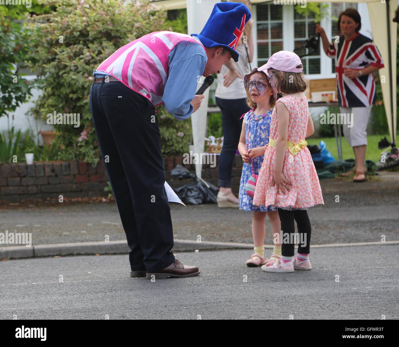 Street Party Held In Celebration Of Queen Elizabeth II 90th Birthday
