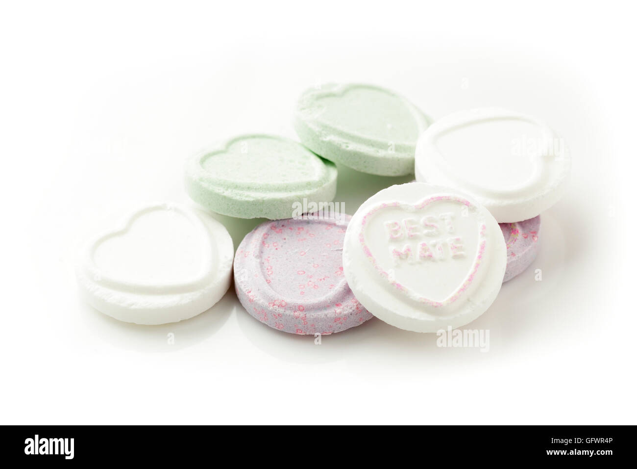 Love Hearts – Best Mate - Stock Image