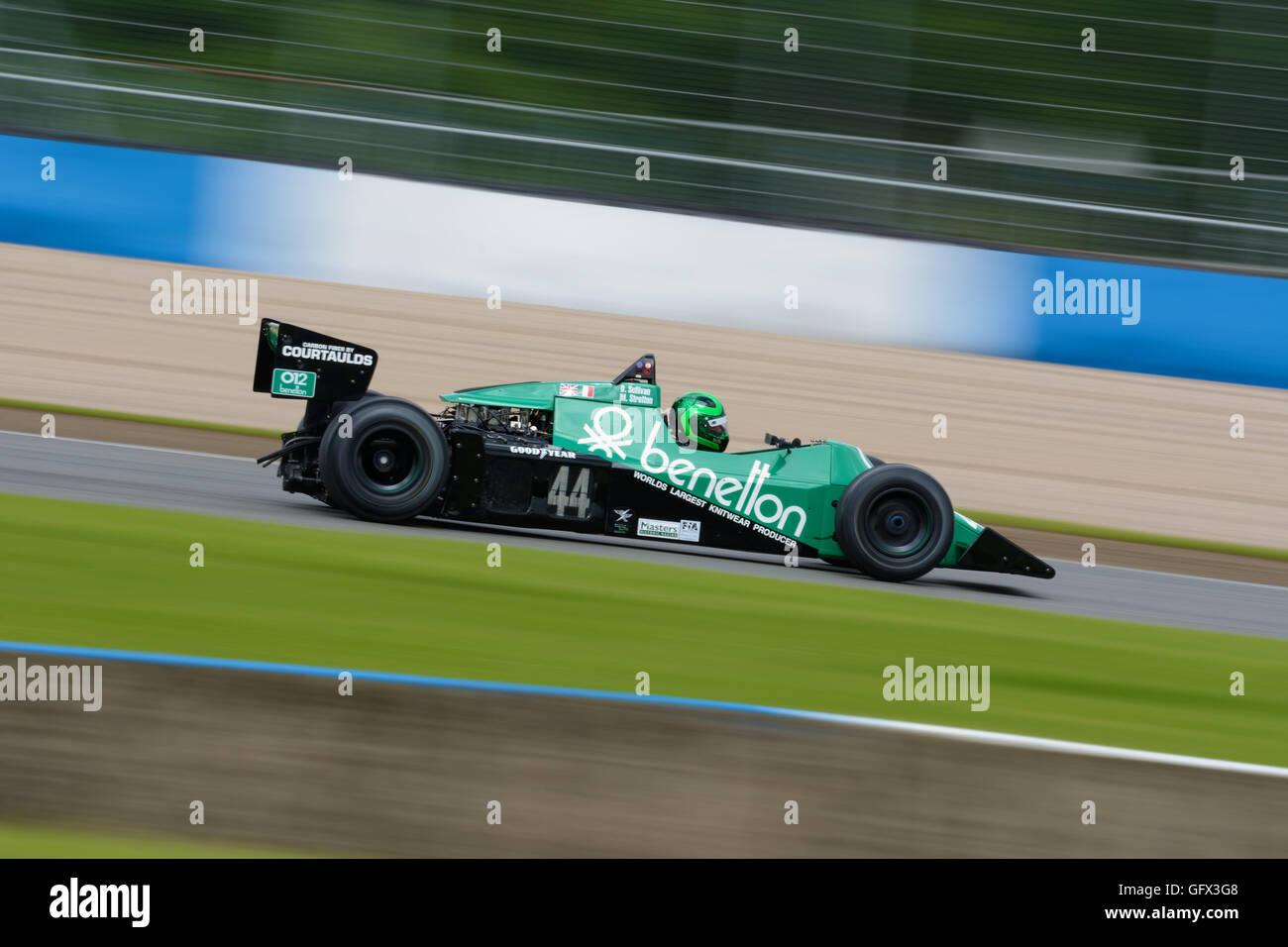 Benetton classic F1 race car. - Stock Image