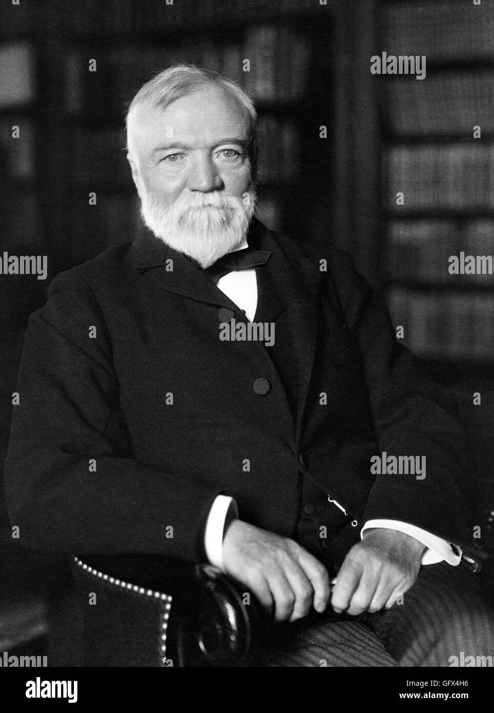 Andrew Carnegie (1835-1919), a Scottish-American industrialist, prominent in the American steel industry in the - Stock Image