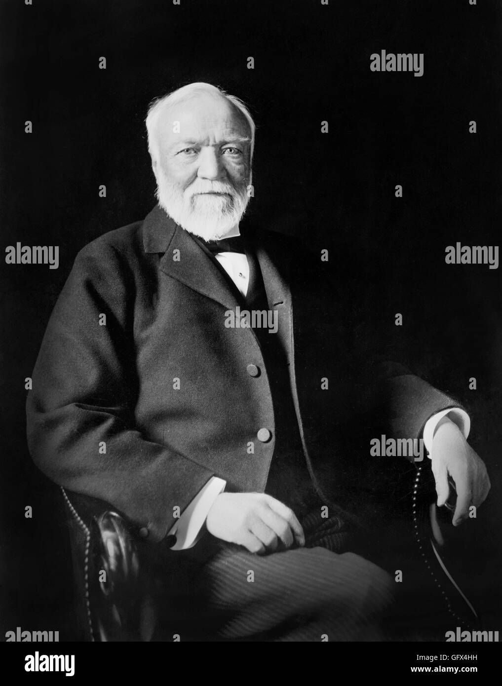 Andrew Carnegie, portrait of the Scottish-American industrialist by Theodore Marceau, c.1913. - Stock Image