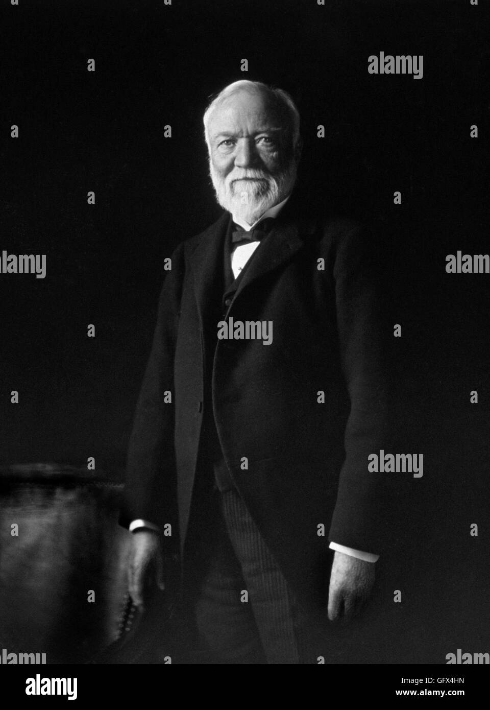 Andrew Carnegie (1835-1919). Portrait of the Scottish-American industrialist by Theodore Marceau, c.1913. - Stock Image