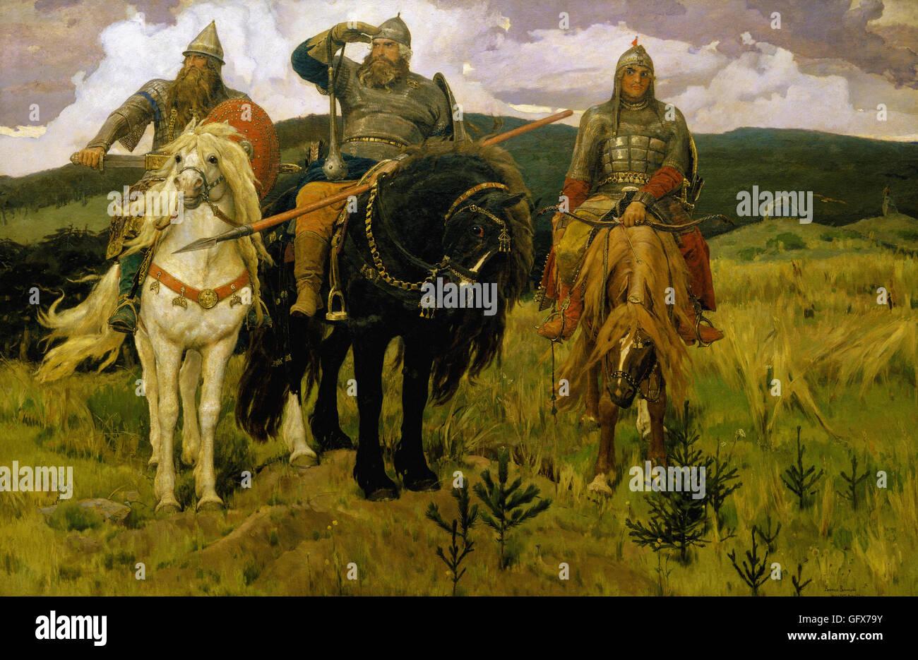 Victor Vasnetsov - Knights - Stock Image