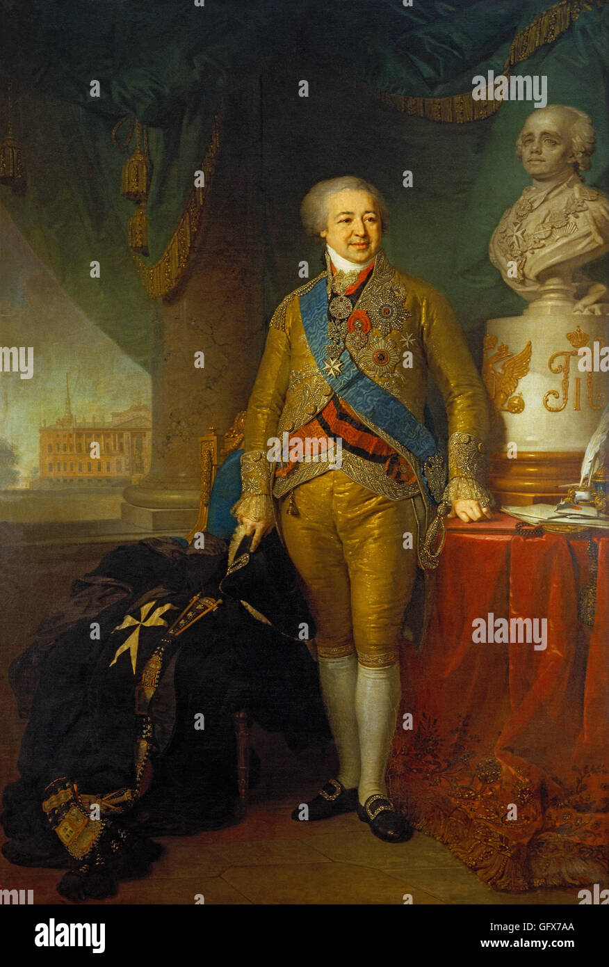 Vladimir Borovikovsky - Portrait of Prince Alexander - Stock Image