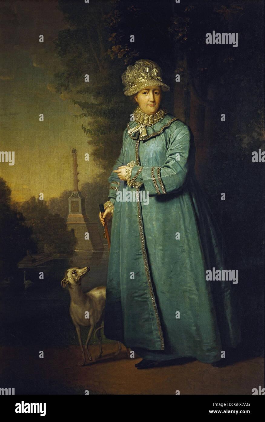 Vladimir Borovikovsky - Catherine II  of Russia - Stock Image