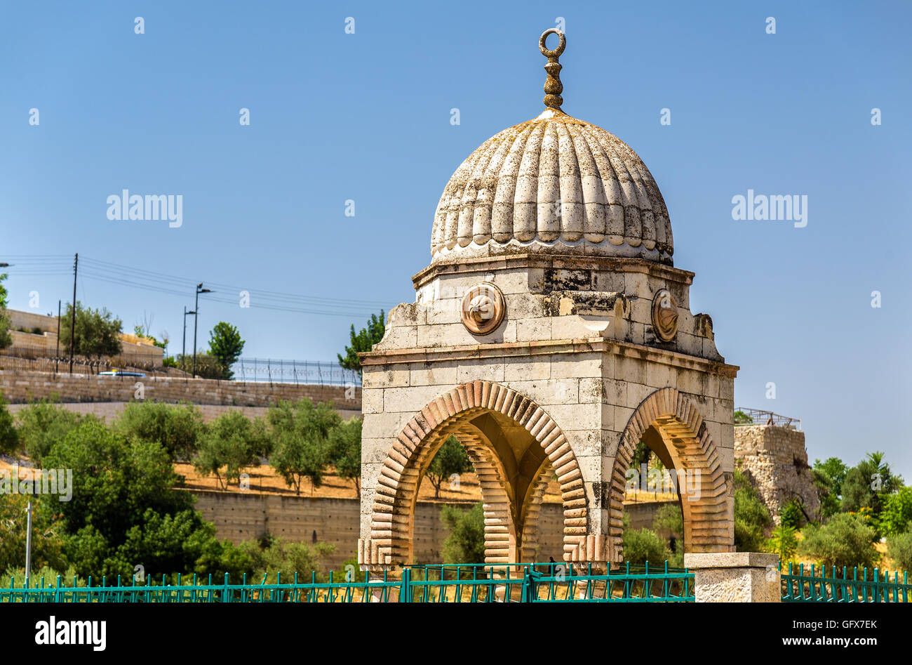 Tomb of Mujir al-Din in Jerusalem - Stock Image