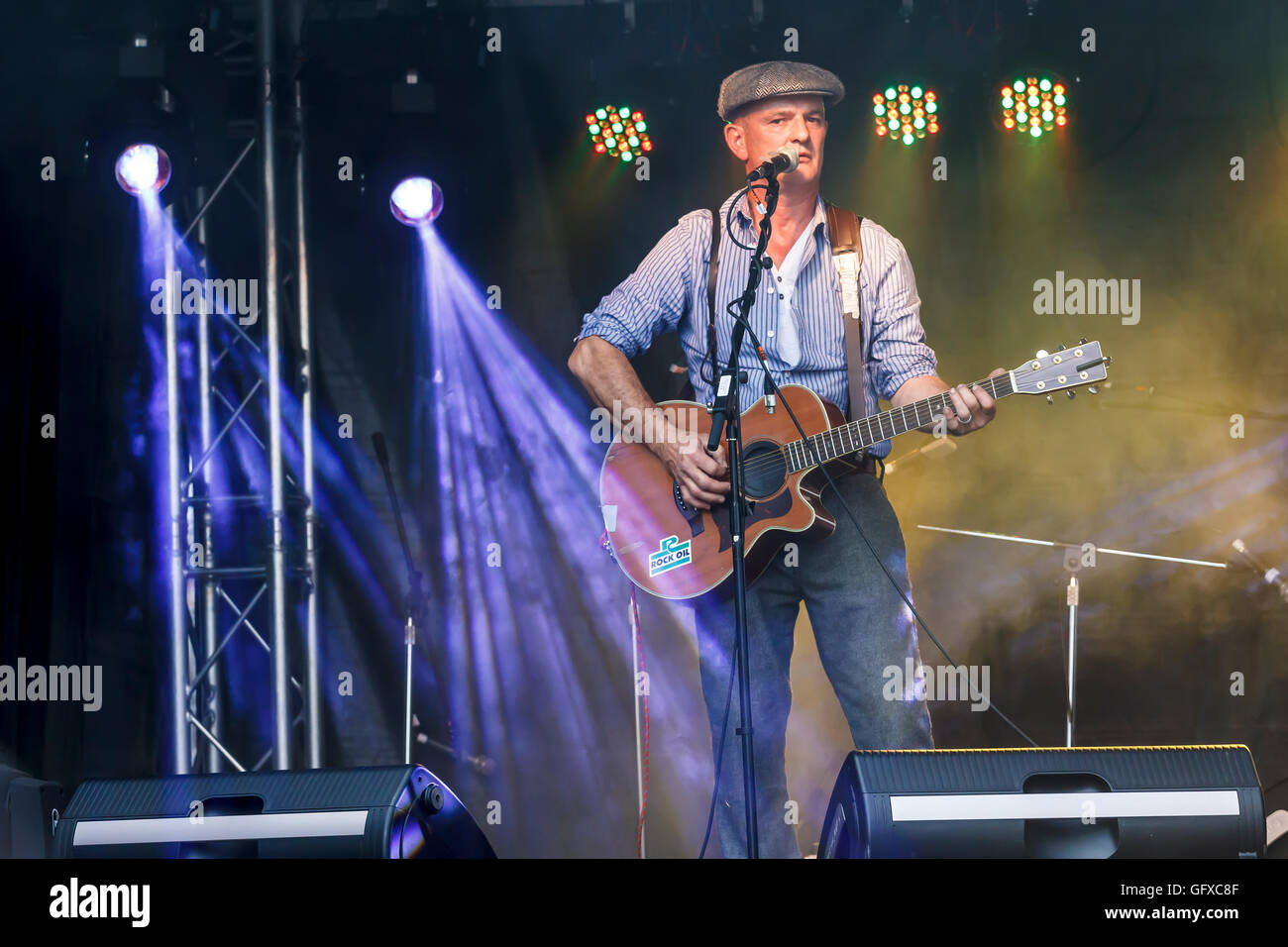Bob Smith, Coleford Free Music Festival, Forest of Dean. - Stock Image