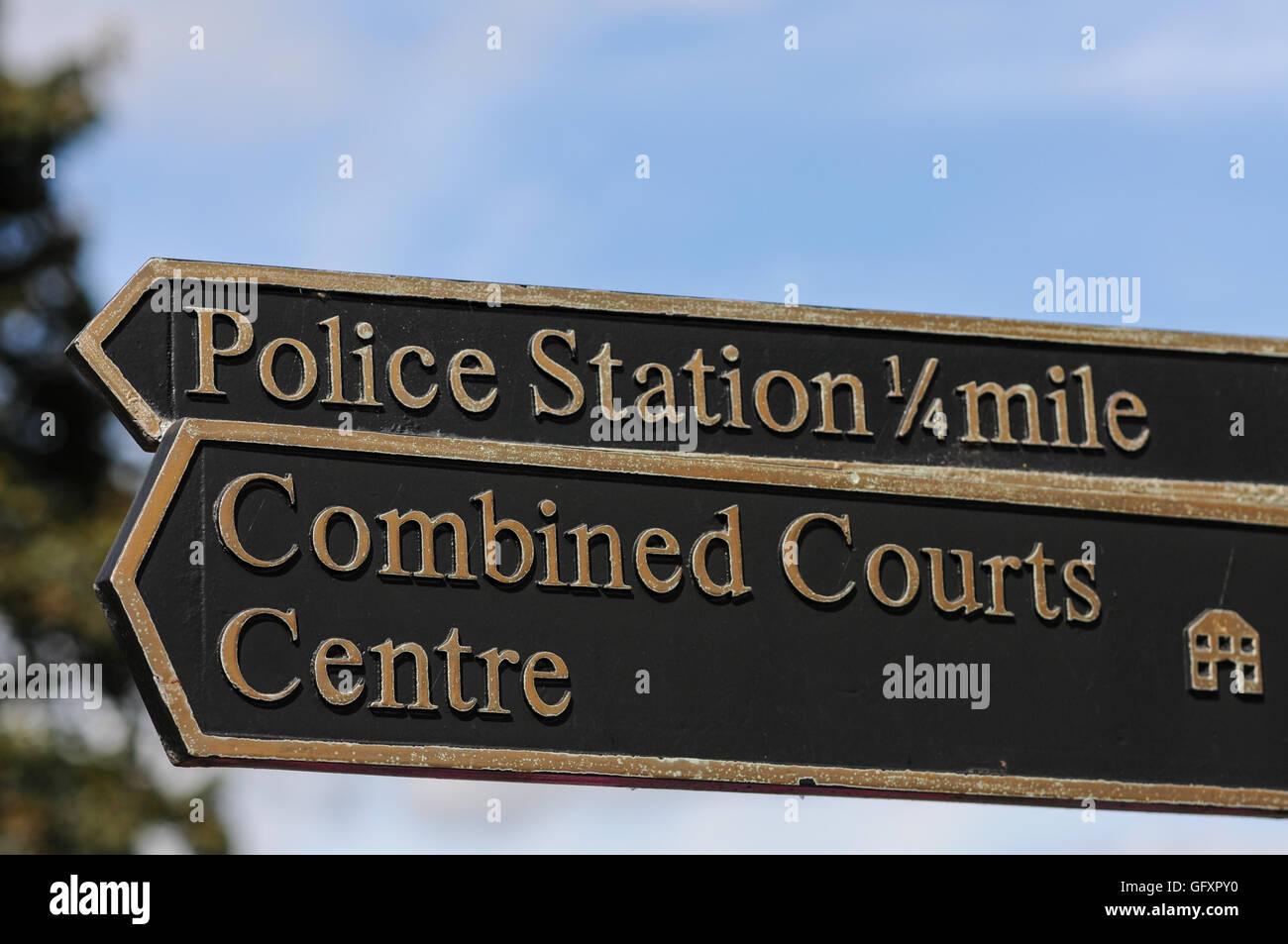 Northampton Crown County Courts - Stock Image