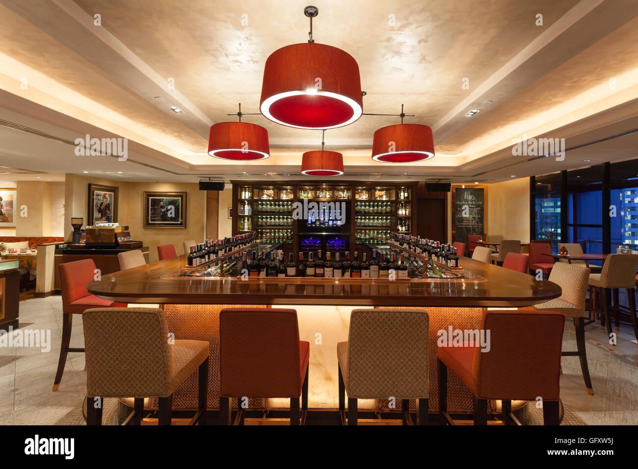 Aldo's Mediterranean Bistro and Wine Bar restaurant located in Bangkok, Thailand. - Stock Image
