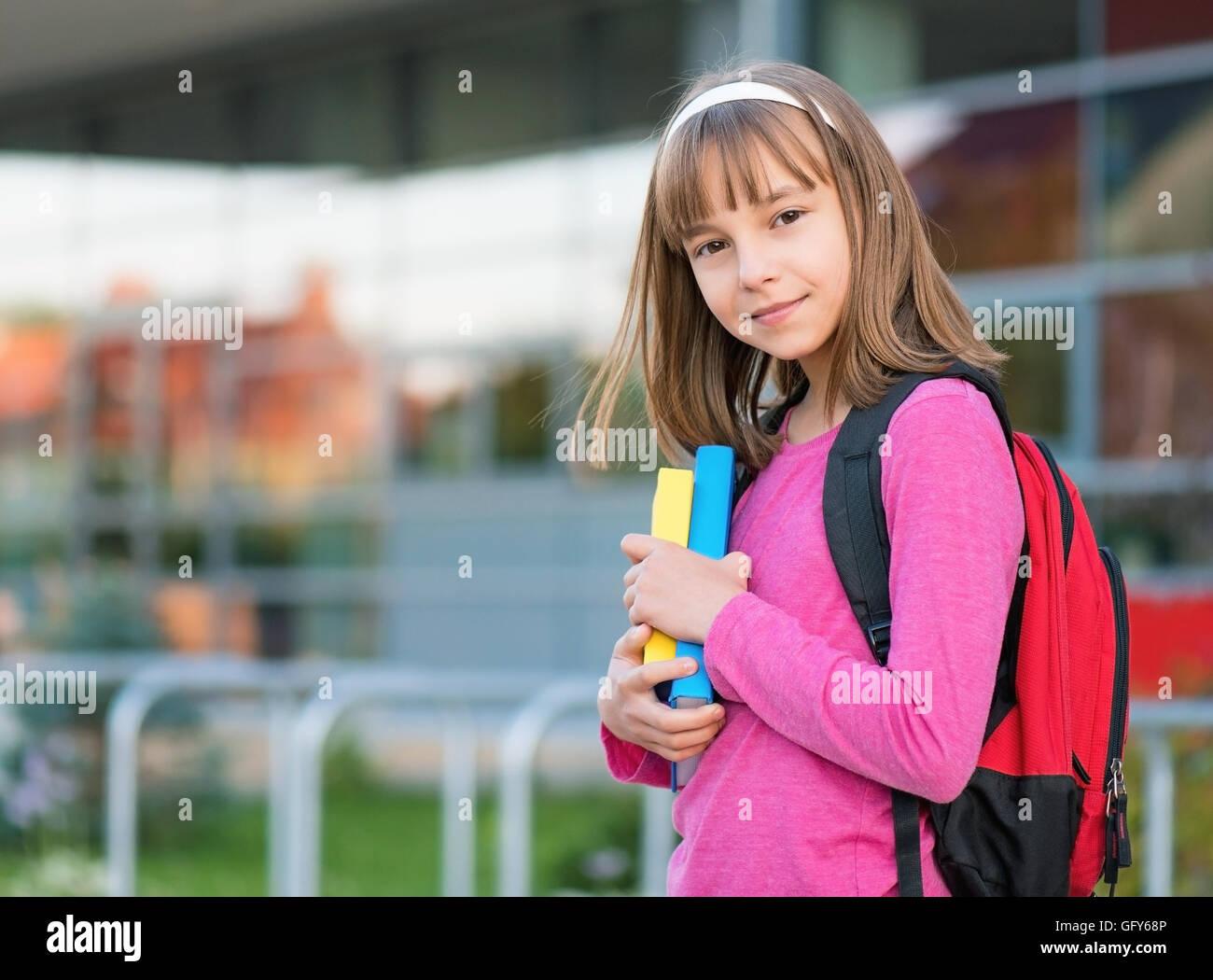 Girl back to school - Stock Image