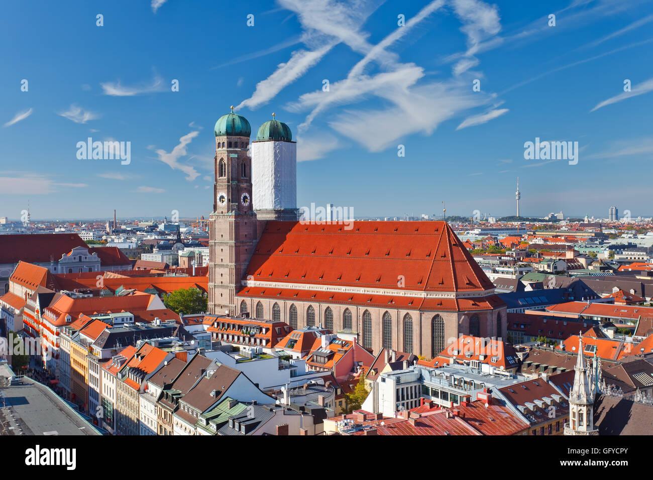 Aerial view of Munchen - Stock Image