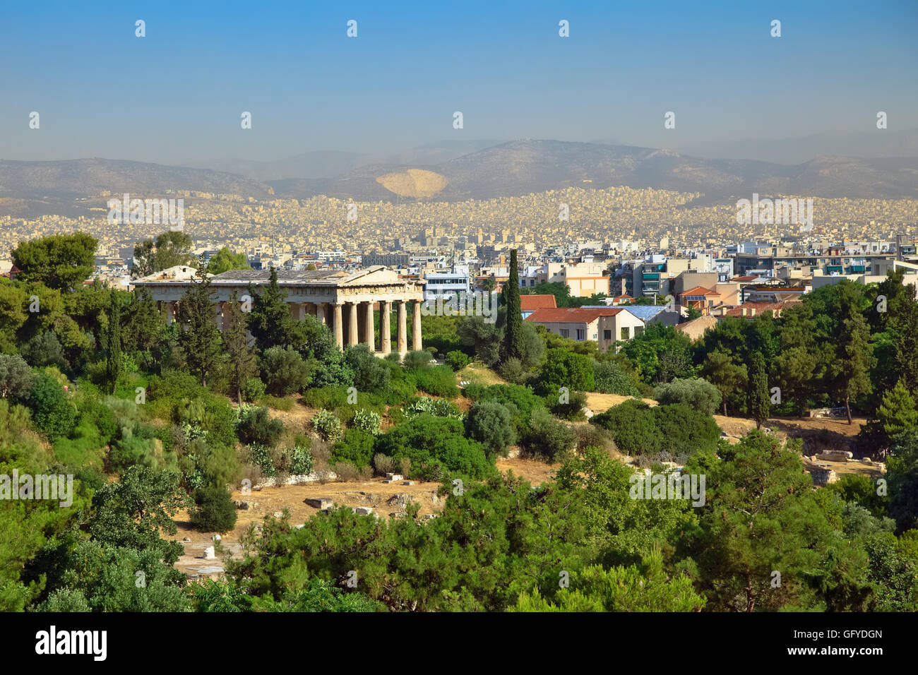 Athens from Acropolis - Stock Image