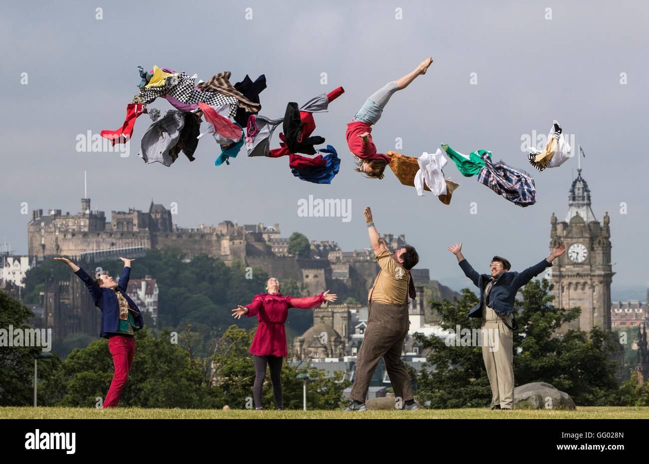Edinburgh, Scotland, UK. 2nd August, 2016. Thrillingly spectacular circus skills blend seamlessly with charm, physical - Stock Image