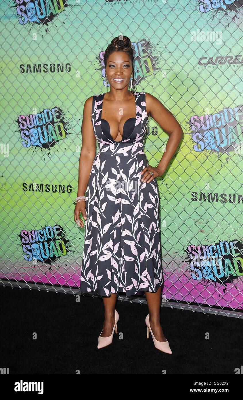 Yolonda Ross at arrivals for SUICIDE SQUAD Premiere, Beacon Theatre, New York, NY August 1, 2016. Photo By: Kristin - Stock Image
