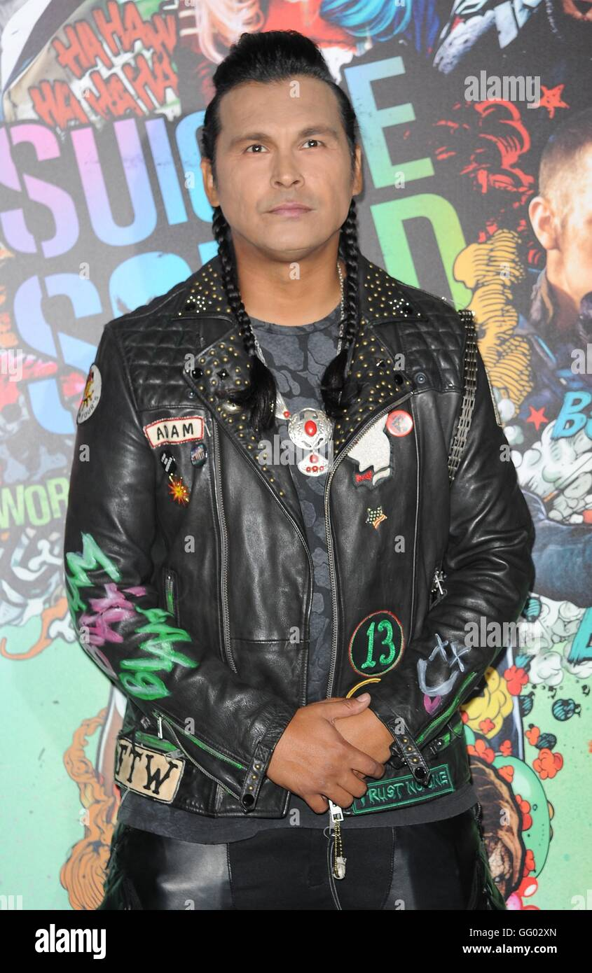Adam Beach at arrivals for SUICIDE SQUAD Premiere, Beacon Theatre, New York, NY August 1, 2016. Photo By: Kristin - Stock Image