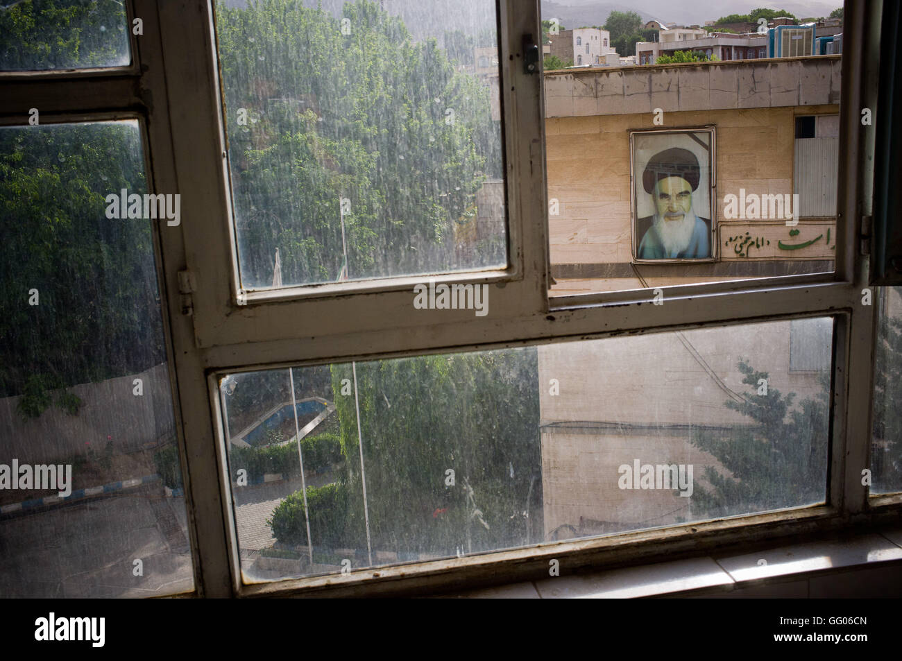 Sanandaj, Iranian Kurdistan, Iran. 29th May, 2013. File Image - The image of the leader of the Iranian Revolution - Stock Image