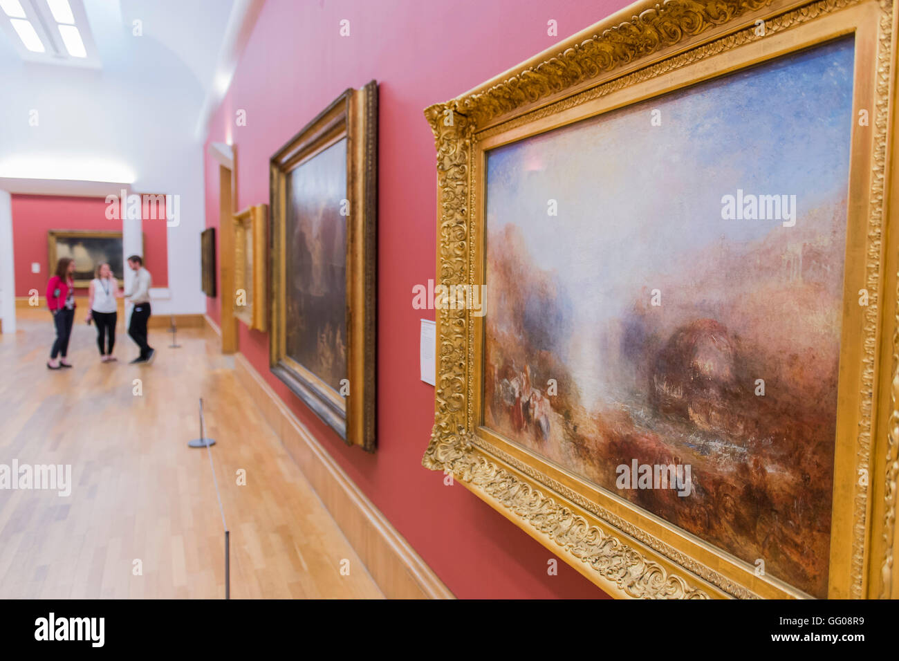 London, UK. 3rd August, 2016. Mercury Sent to Admonish Aeneas in the central gallery - Works by JMW Turner, which - Stock Image