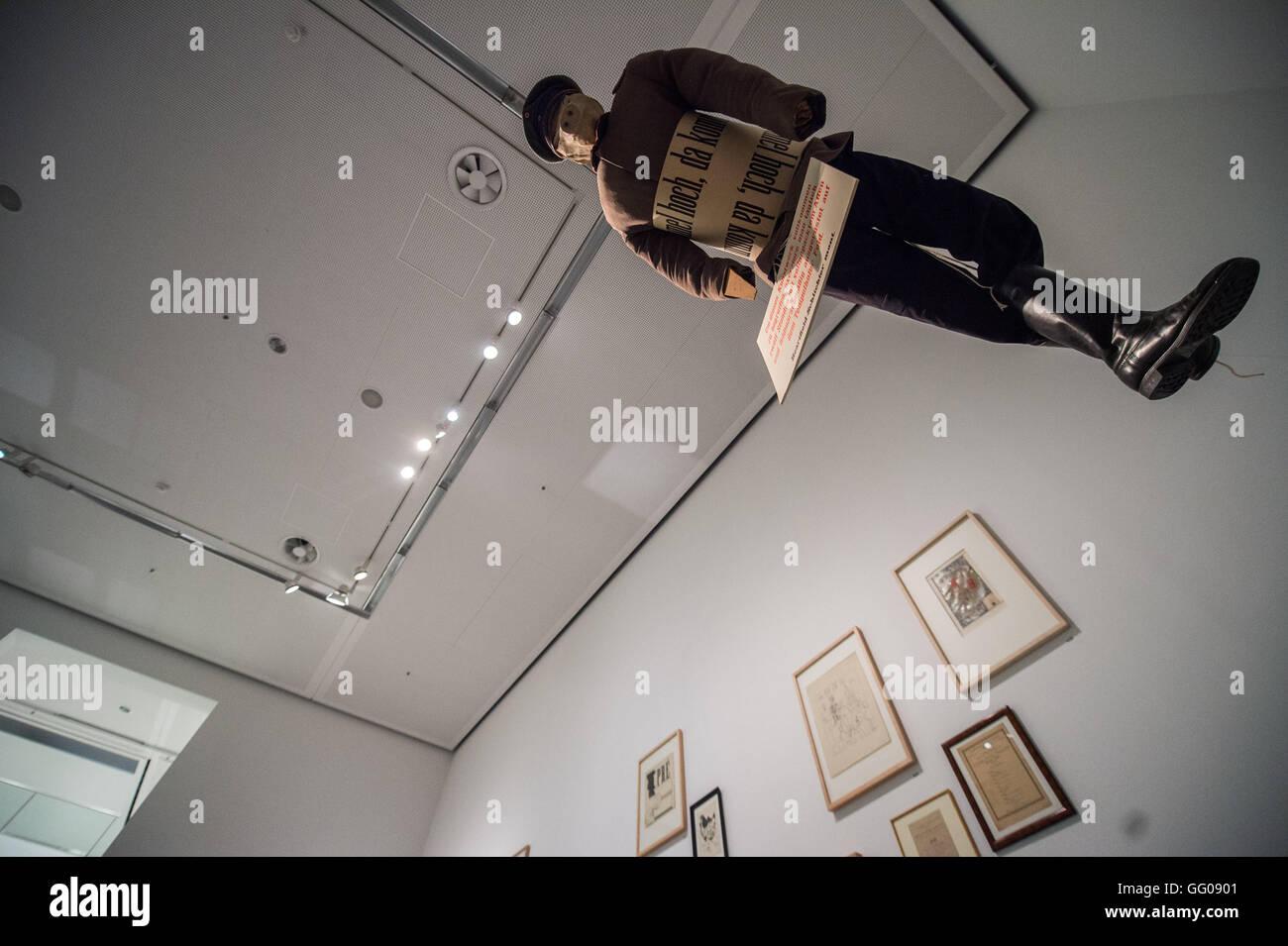 Ein Kunstwerk ist am 03.08.2016 im Rahmen der Ausstellung \