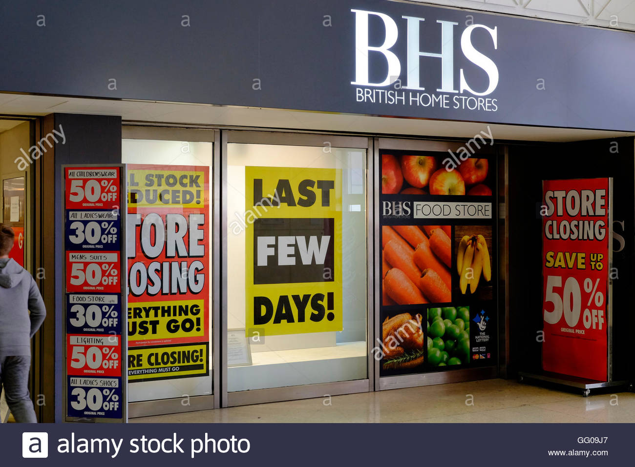 Nottingham, England, 3 August 2016  BHS Nottingham closes today Credit:  M-dash/Alamy Live News - Stock Image
