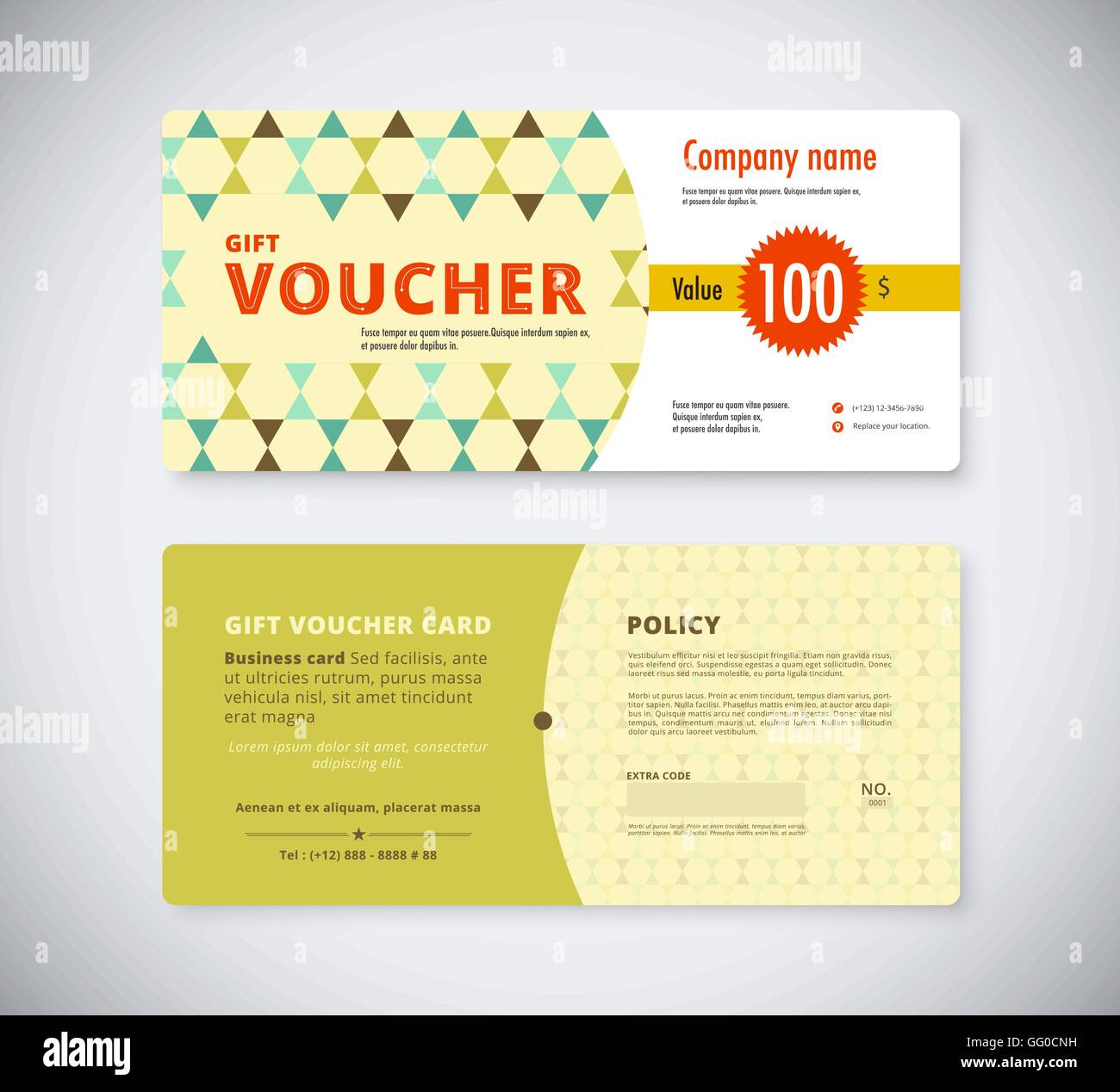 Abstract gift voucher template card business voucher card template abstract gift voucher template card business voucher card template vector stock cheaphphosting Images