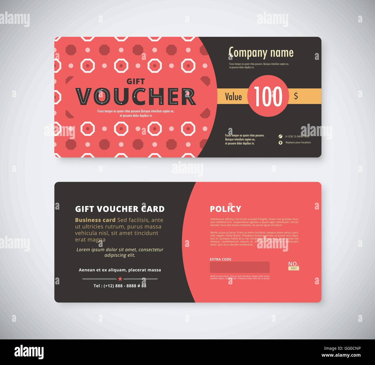 Abstract gift voucher template card business voucher card template abstract gift voucher template card business voucher card template vector stock accmission Choice Image