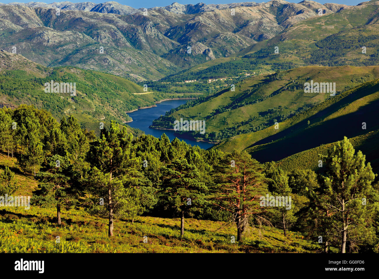 Portugal, Minho: Great mountain view in the National Park Peneda Geres - Stock Image