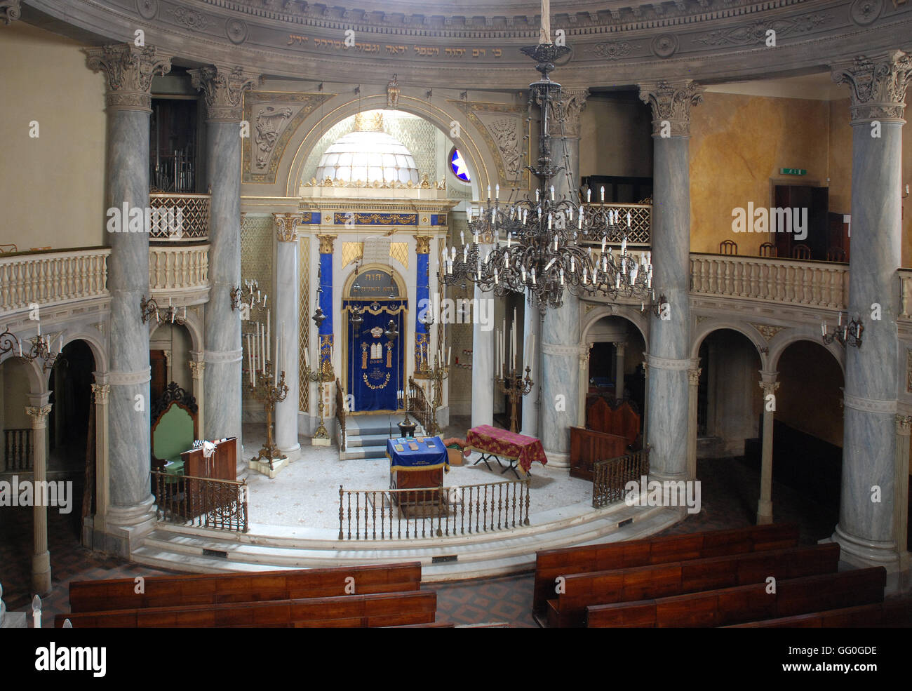 5620. Modena synagogue, interrior - Stock Image