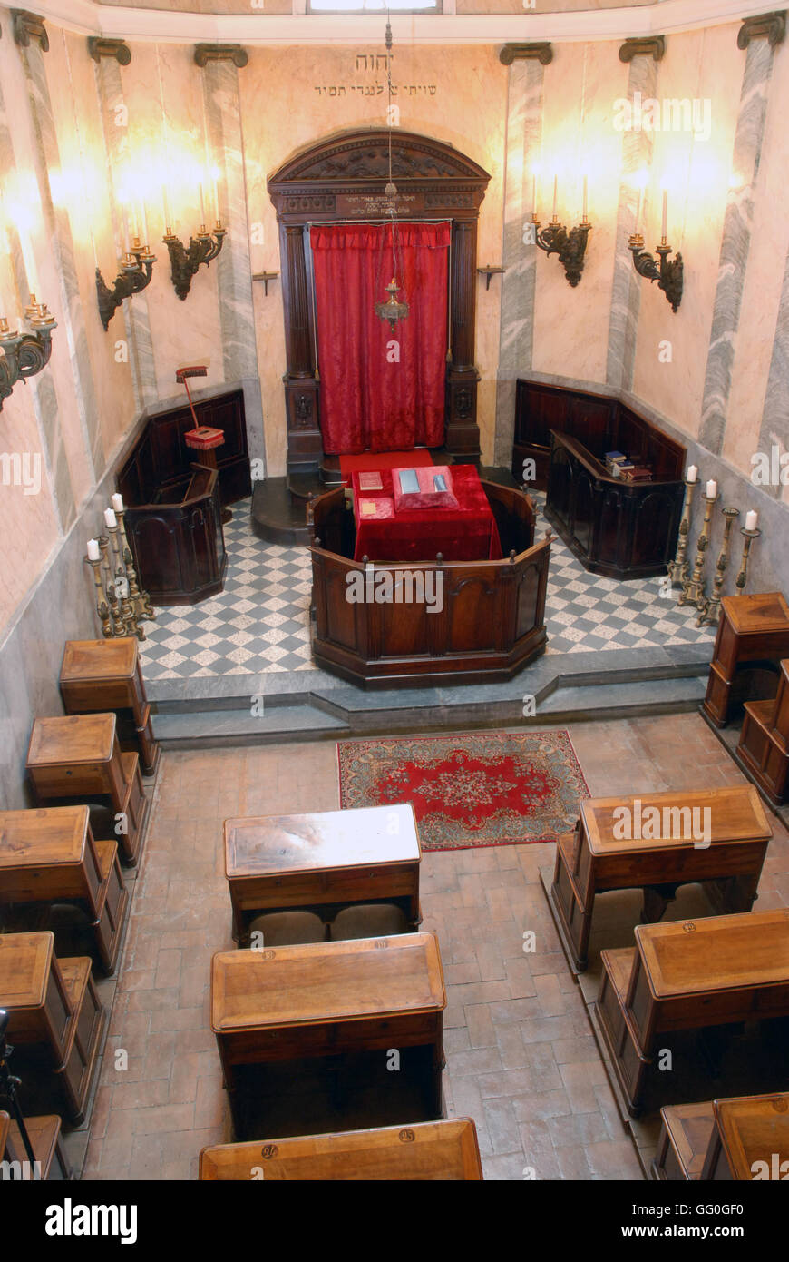 5625.Interrior of the Synagogue in Parma, Italy. Built in 1822 - Stock Image