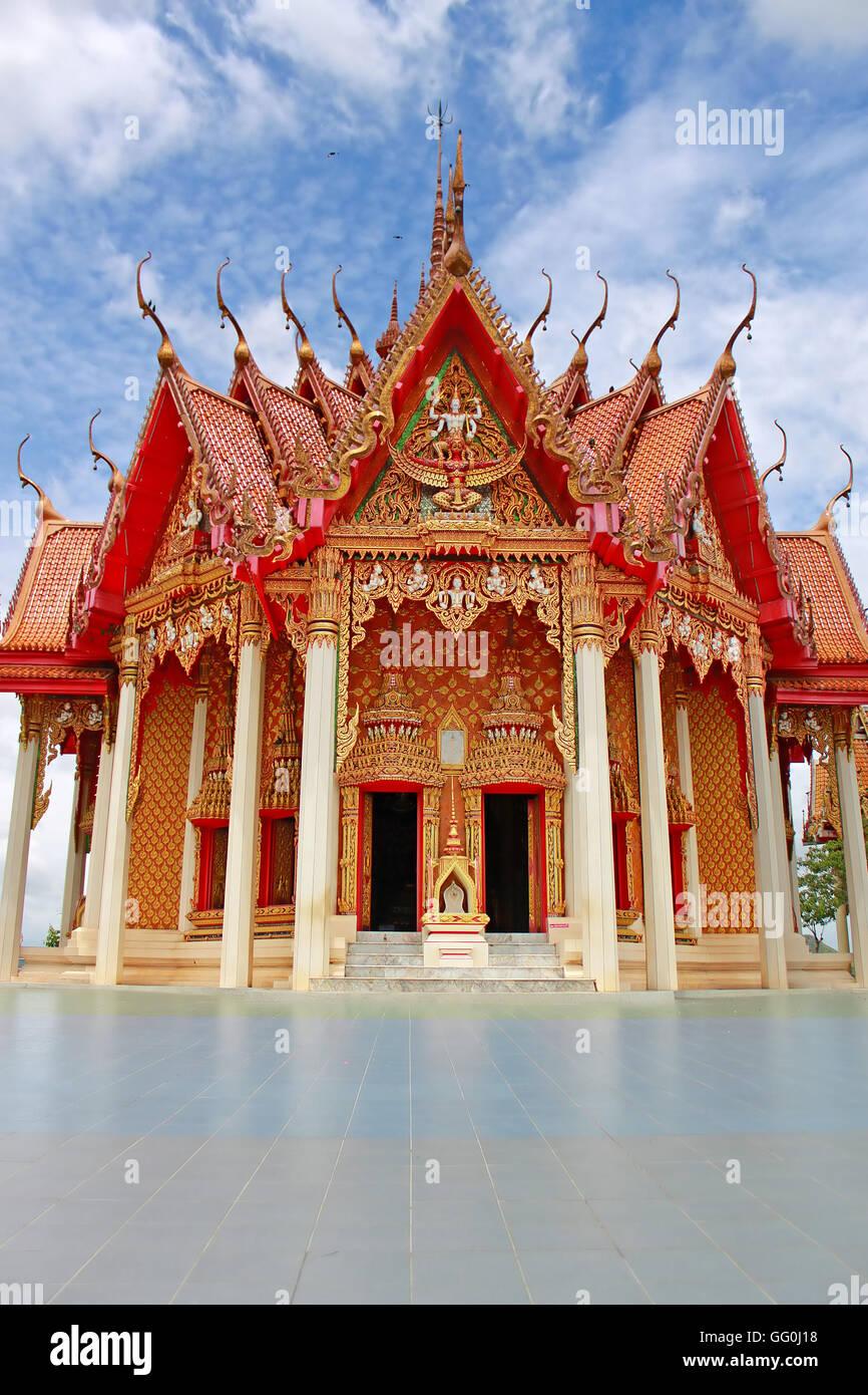 Tiger Cave Temple or Wat tham sua in Kanchanaburi, Thailand - Stock Image