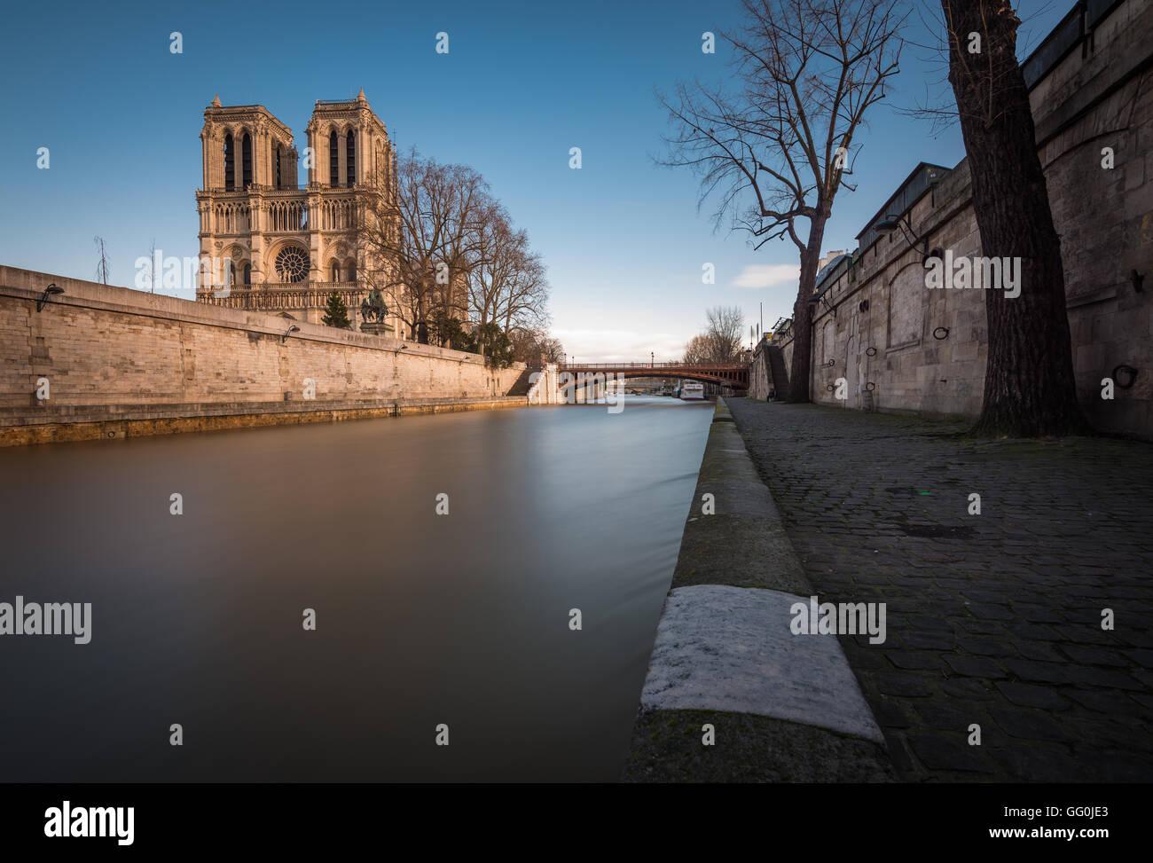 Cathédrale Notre-Dame de Paris, Notre Dame de Paris, Paris, France - Stock Image