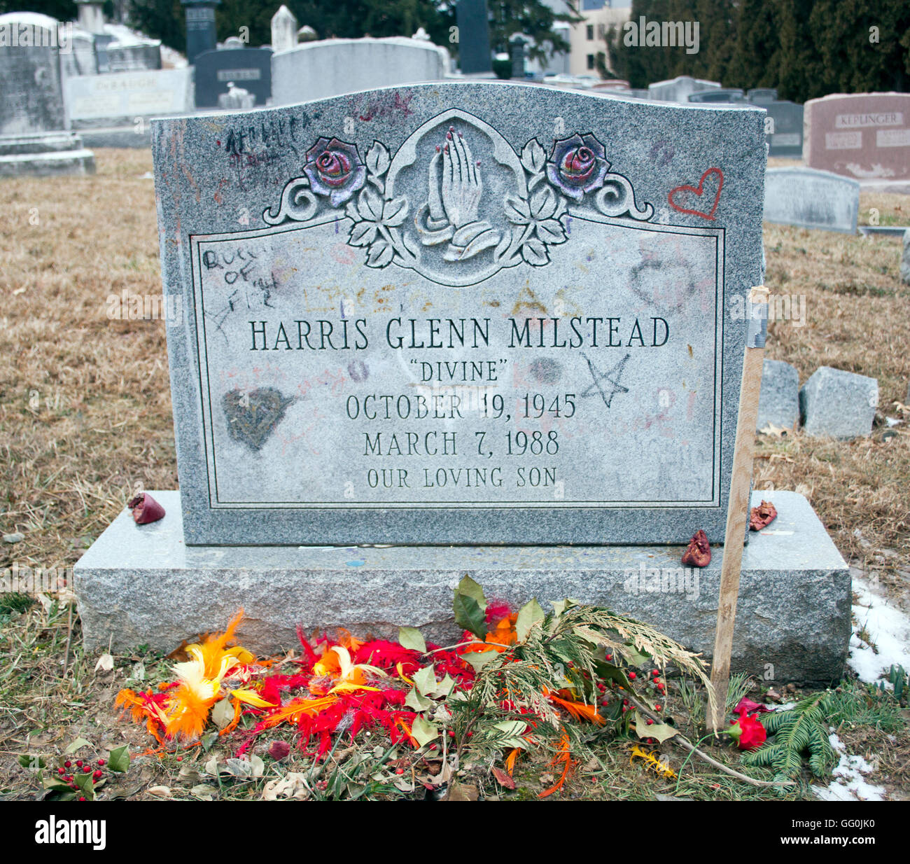 Divine Grave in Baltimore Maryland - Stock Image