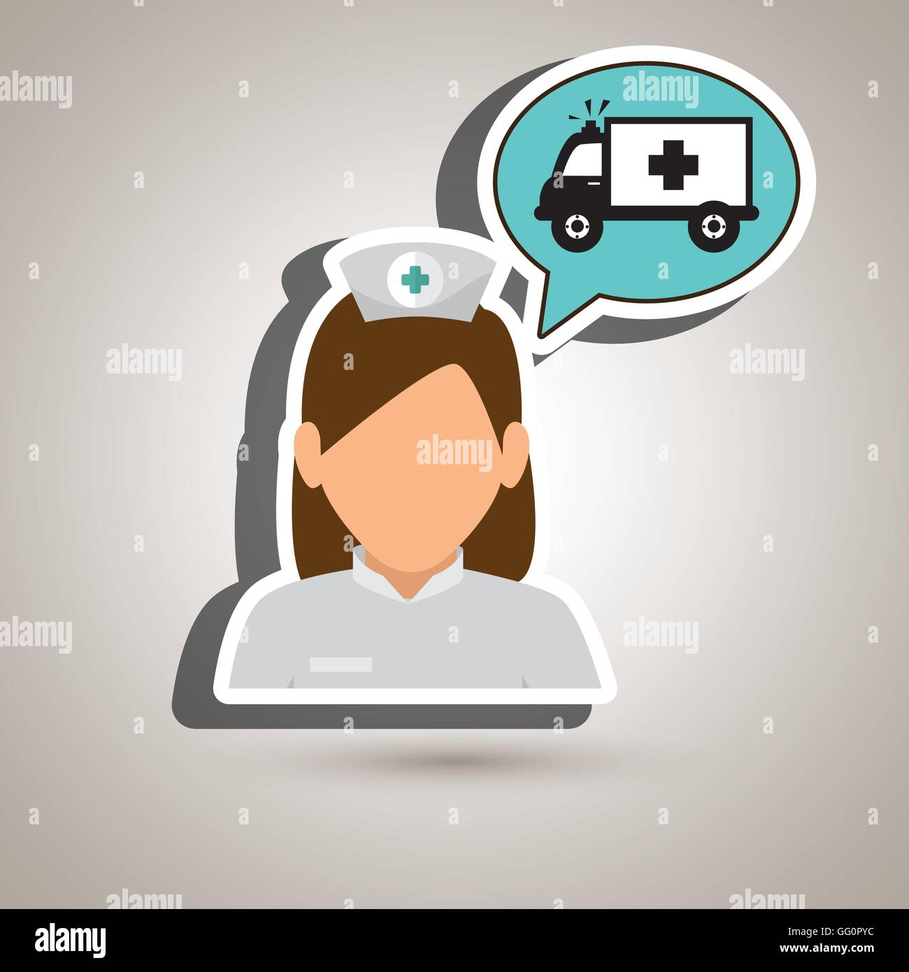 nurse tooth health speech - Stock Vector