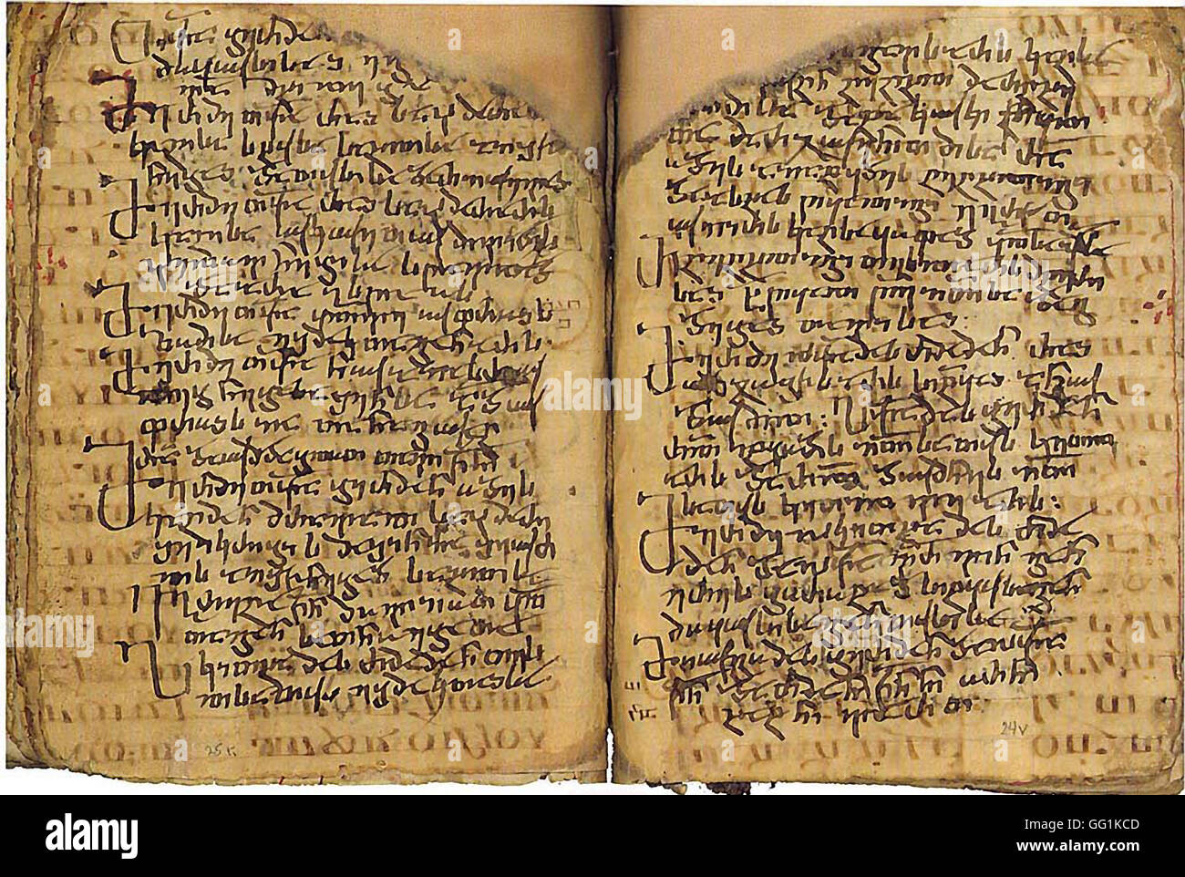 5930. Codex Sinaticus, 4th. C. Greek texts of the New Testament Christian-Palestinian Aramaic. The monastery of - Stock Image