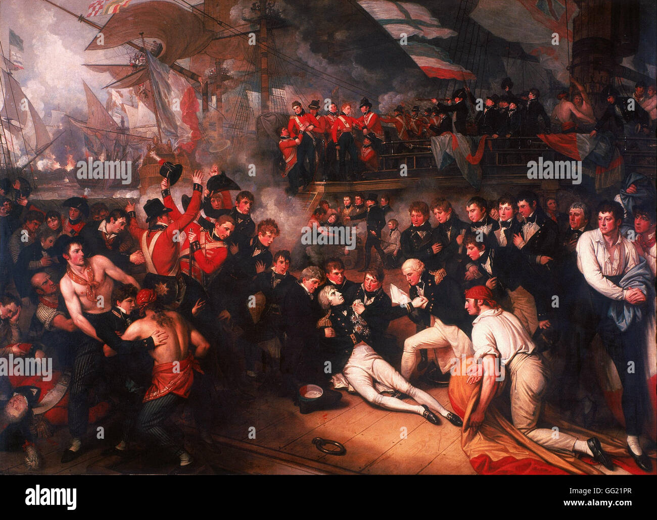 Benjamin West - The Death of Nelson - Stock Image