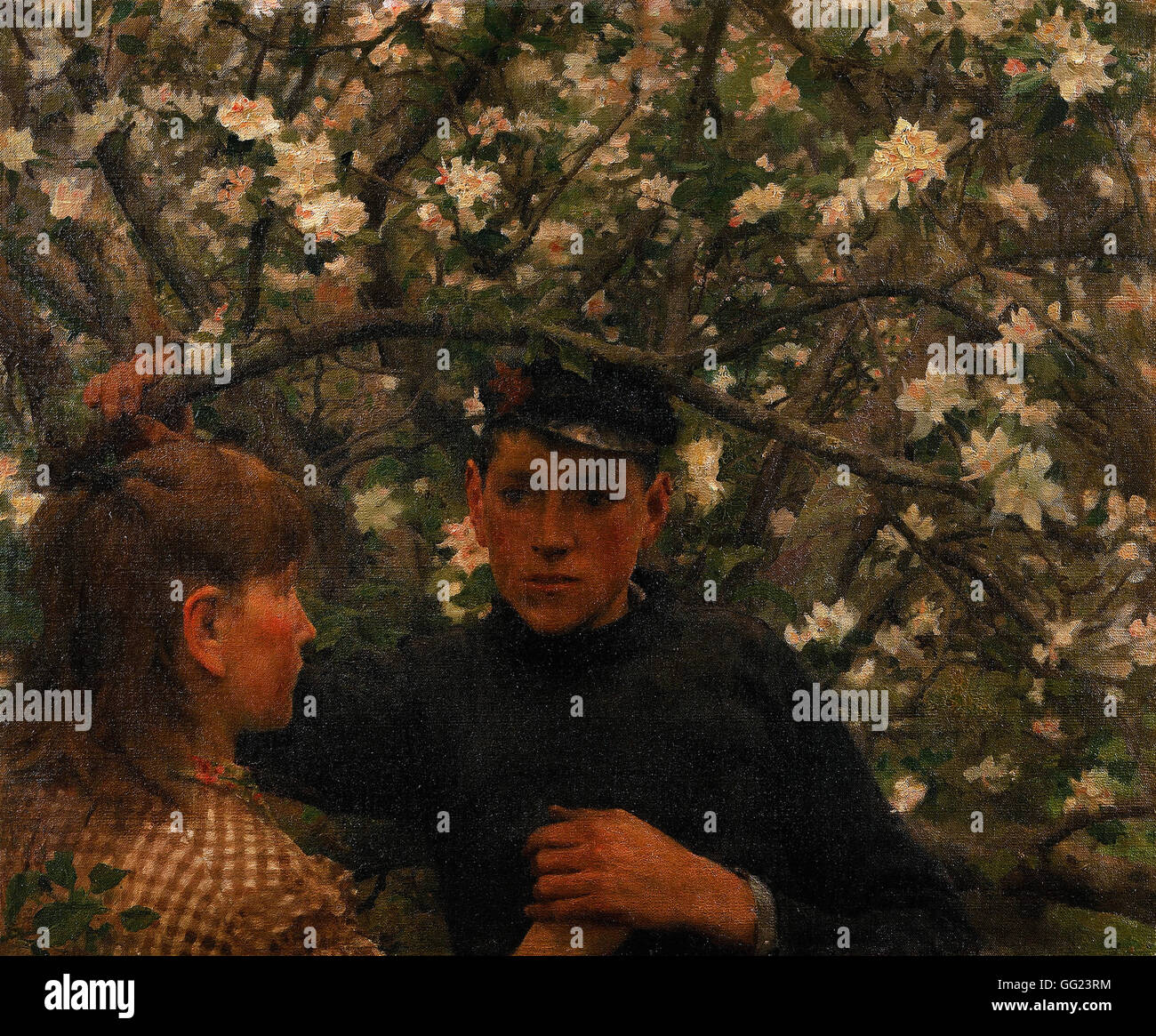 Henry Scott Tuke - The Promise - Stock Image