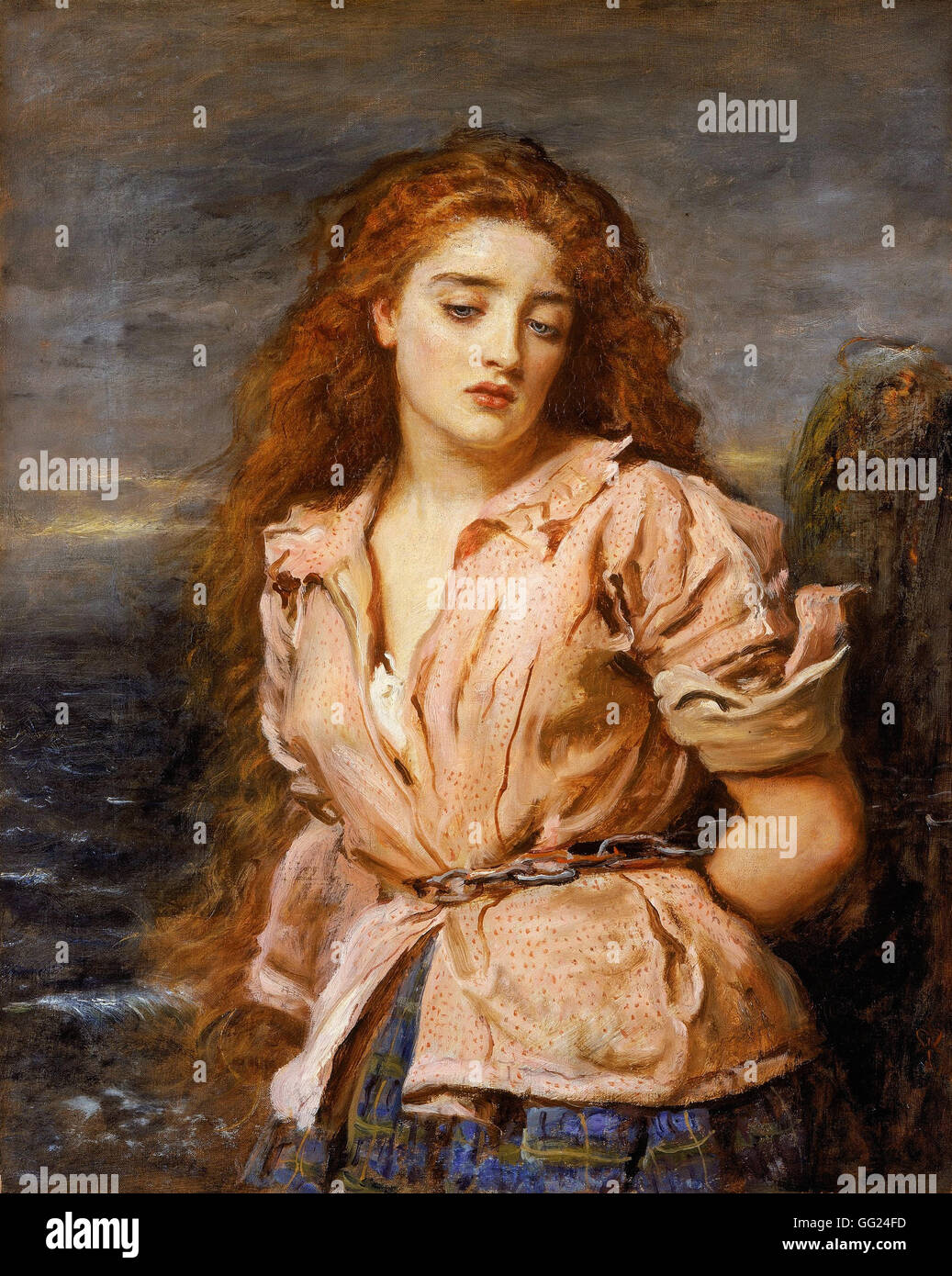 JOHN EVERETT MILLAIS - The Martyr of the Solway - Stock Image