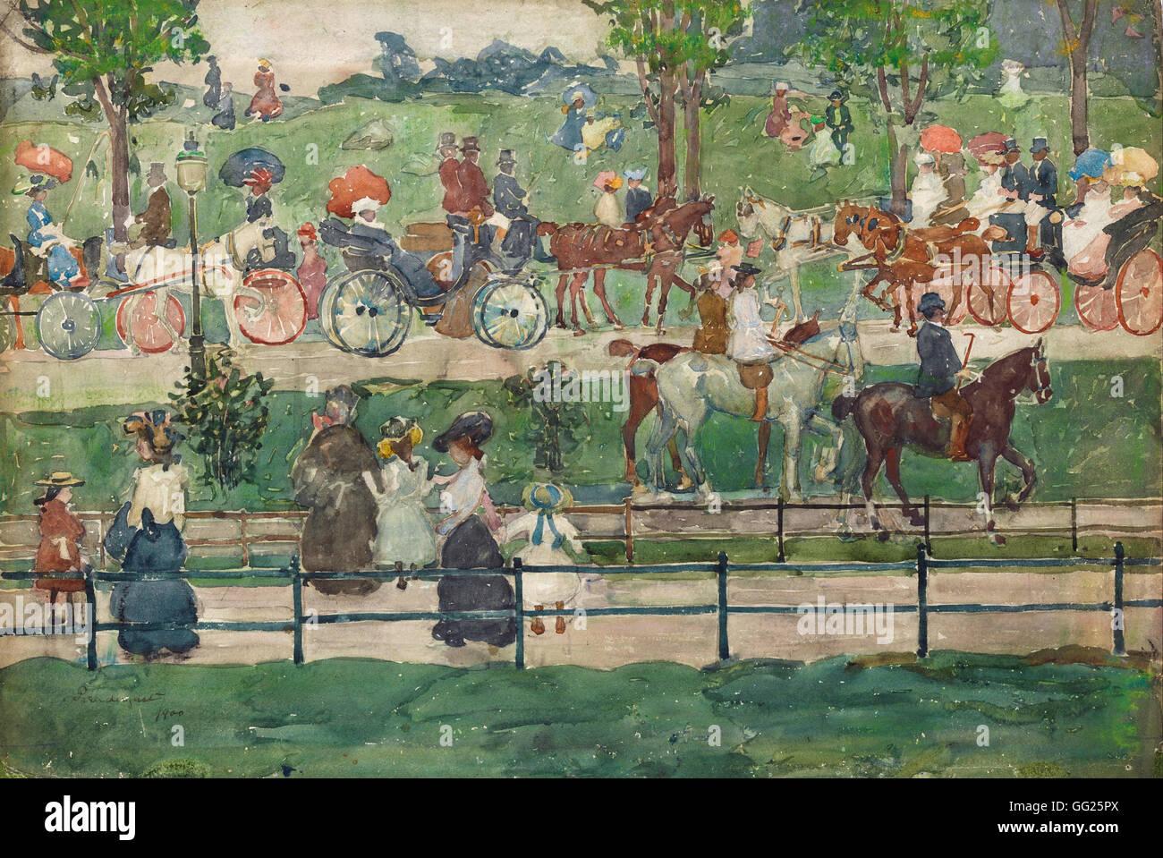 Maurice Prendergast - Central Park, 1900 - Stock Image