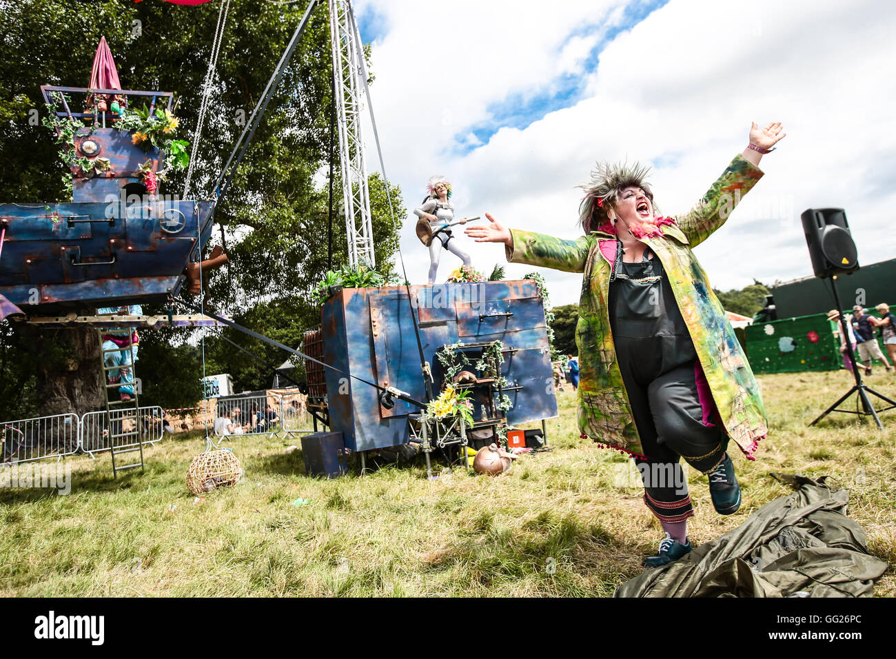 A performance by the Enfants Terribles theatre company at the 2016 Latitude festival Stock Photo