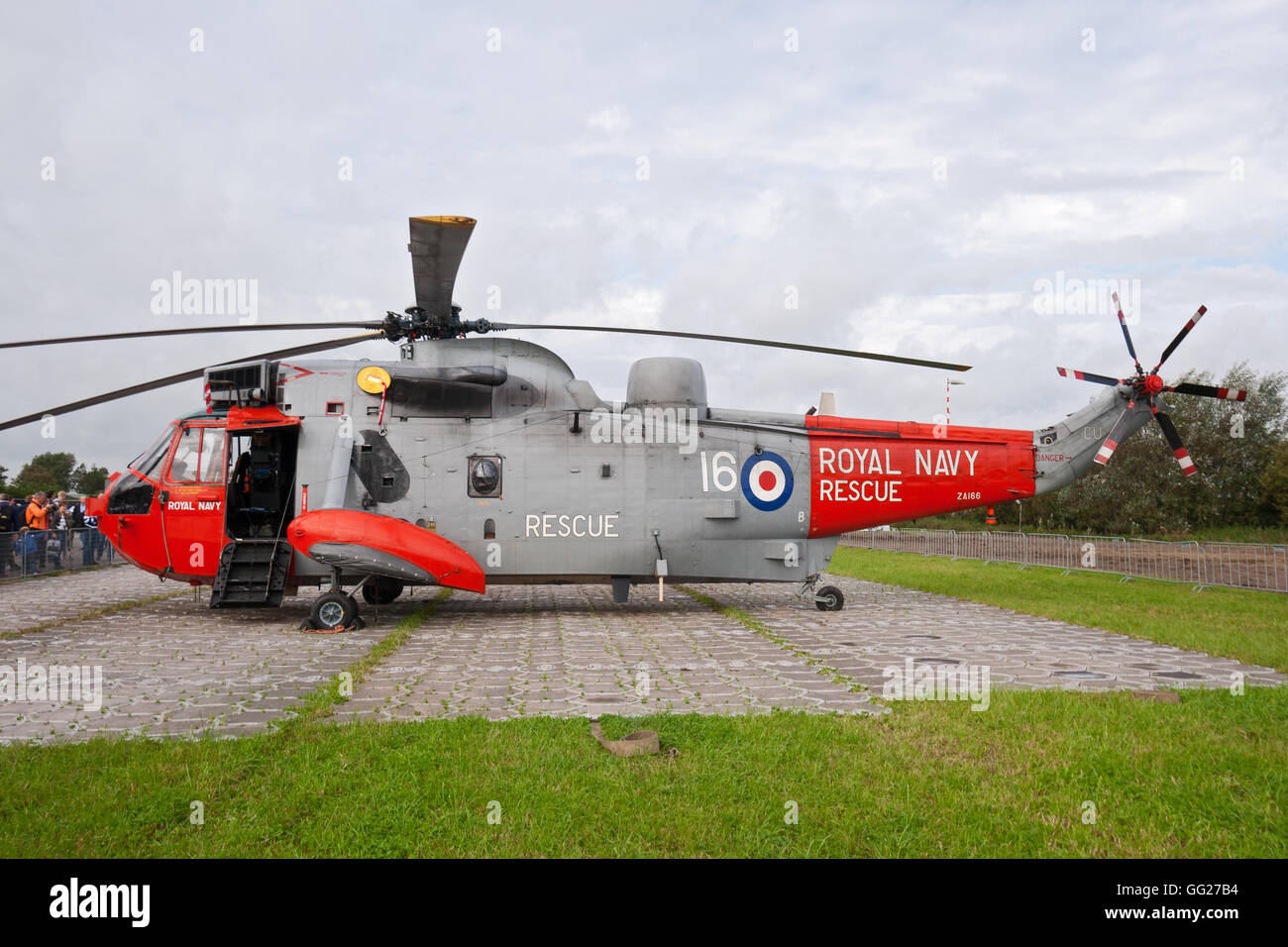British Royal Navy Sea King rescue helicopter - Stock Image