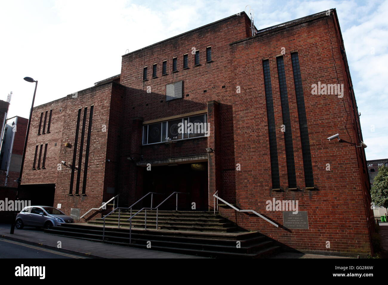 The Manchester Reform Synagogue, in Jackson's Row, Central Manchester, UK. - Stock Image
