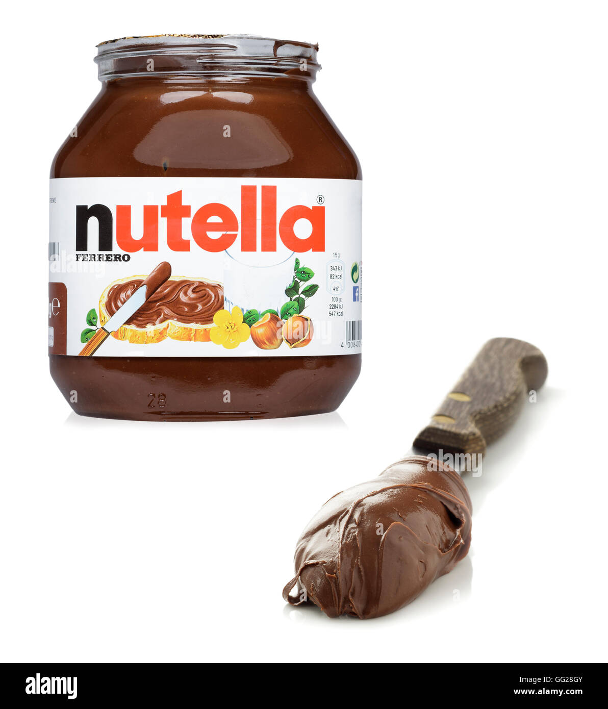Nutella Jar Label